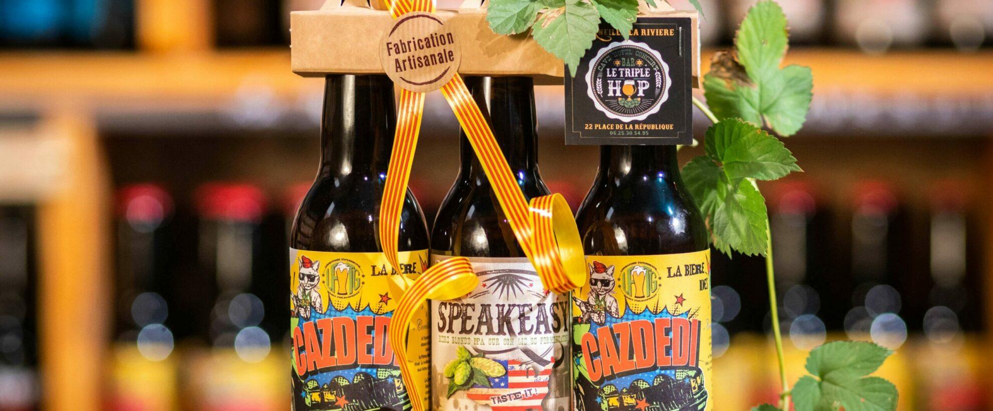 La bière artisanale du bar triple hop